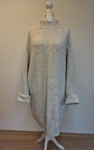 Zara Knit Robe en maille tricotées blanc cassé-blanc