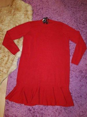 Strickkleid Minikleid Gr L (40/42) Kleid YAS by Vero Moda Rot Neu Casual Büro € 70,-