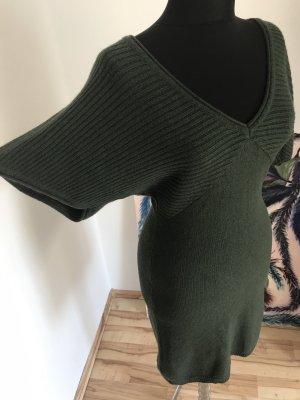 3 Suisses Abito di maglia verde scuro-verde bosco Viscosa