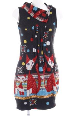 Vestido tejido estampado temático estilo gitano