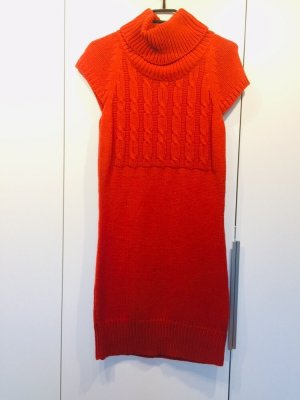 Strickkleid orange