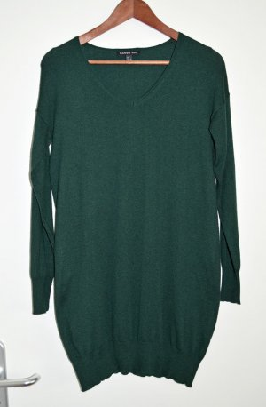 Strickkleid Pullikleid Longpulli von MANGO, dunkelgrün Gr, S wie 36, Baumwolle