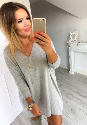 Strickkleid Pullover Cut Out Rücken Strickpullover Stiefelkleid Longpullover Pullover  passt bei M-XL
