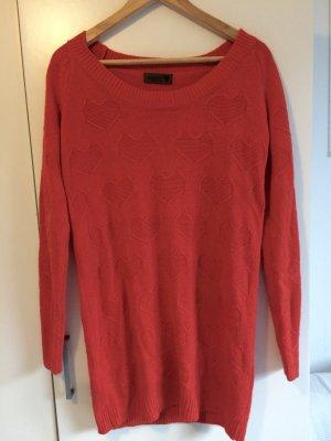 Strickkleid/-pullover von Nümph in orange-rot