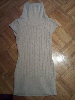 Strickkleid-Pullover Zopfstrick mit Rollkragen