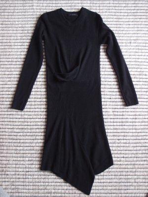 All Saints Robe en maille tricotées noir laine