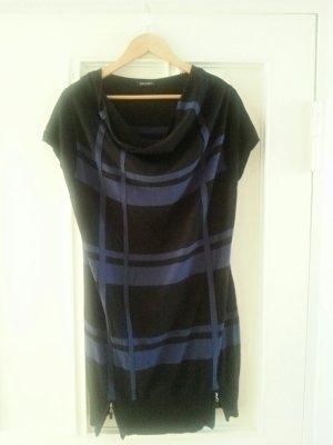 Strickkleid (schwarz-blau)