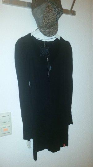 Strickkleid - schwarz -