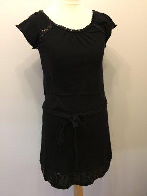 Strickkleid schwarz Feinstrickkleid