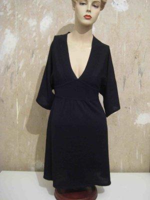 H&M Vestido de lana negro tejido mezclado