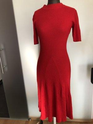 H&M Abito di maglia rosso scuro