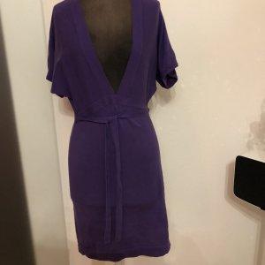 Strickkleid Strick Kleid Überzieher Tunika Gr 36 38 S lila
