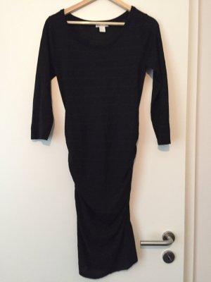 Strickkleid Umstandskleid schwarz mit Glitzer