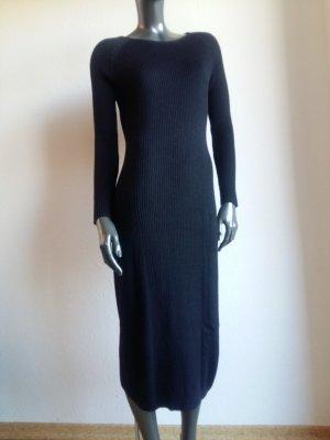 Alba Moda Gebreide jurk zwart Scheerwol