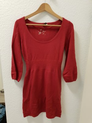 H&M Knitted Dress raspberry-red