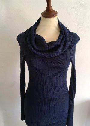H&M Robe en maille tricotées bleu foncé