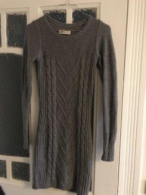 Hollister Gebreide jurk grijs