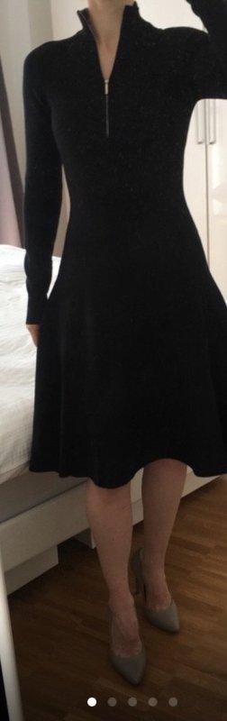 HUGO Hugo Boss Robe en maille tricotées noir
