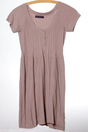 Gebreide jurk lichtbruin