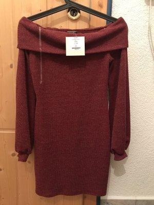 Abito maglione bordeaux