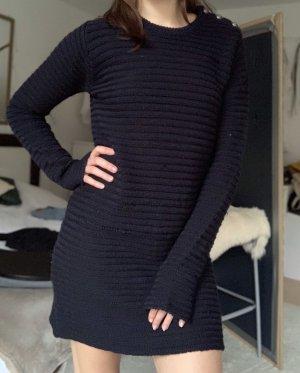 Zadig & Voltaire Vestido tejido negro-azul oscuro