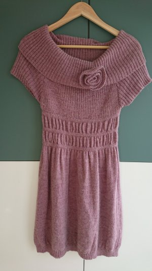 Woolen Dress dusky pink