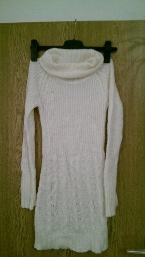 Strickkleid Winter Weiß