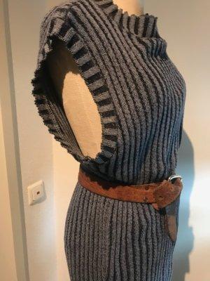 Asos Gebreide jurk blauw-staalblauw