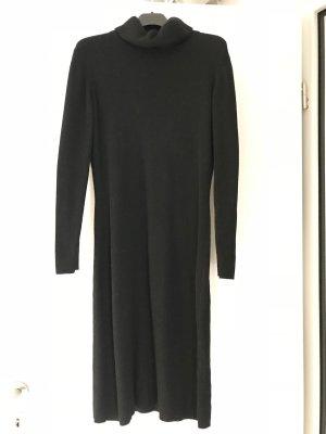 Strickleid schwarz, Midi, Größe 38