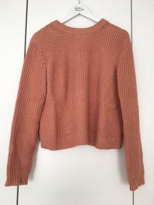 Strickliebe Strickpullover Winter altrosa H&M
