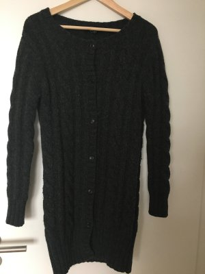Gant Knitted Coat anthracite wool
