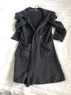 Hoss Knitted Coat dark grey