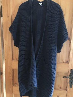 Knitted Coat dark blue