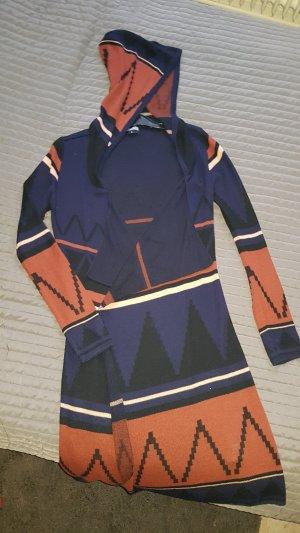 Hailys Gebreide jas cognac-donkerblauw