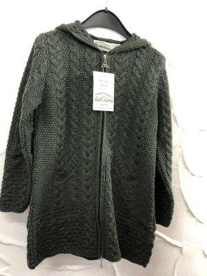 Arancia Abrigo de punto verde oscuro