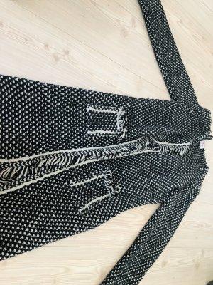 Bloomings Abrigo de punto negro-blanco