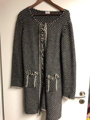 Bloomings Knitted Coat black-white