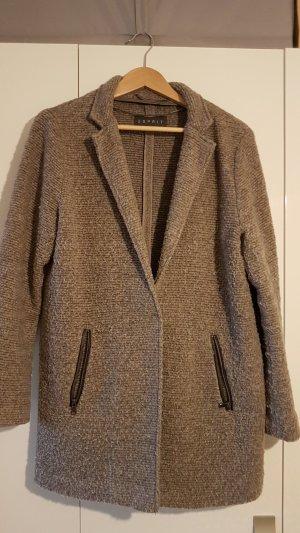 Esprit Veste oversize gris brun