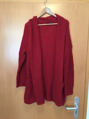 Strickmantel Cardigan in einem Rot-Ton M