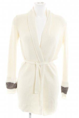 Knitted Coat cream cable stitch casual look