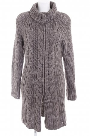 Knitted Coat grey brown flecked casual look