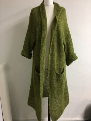 Selected Cappotto a maglia verde bosco
