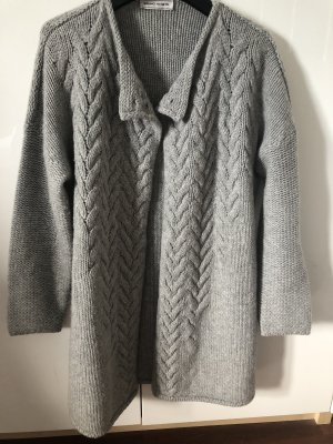 Bruno Manetti Knitted Coat light grey-grey
