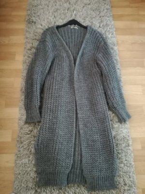 Veste longue gris laine alpaga