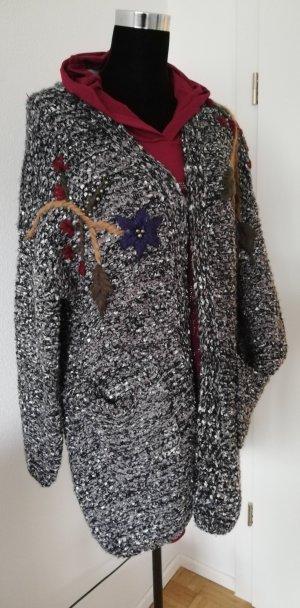 Made in Italy Cardigan a maglia grossa nero