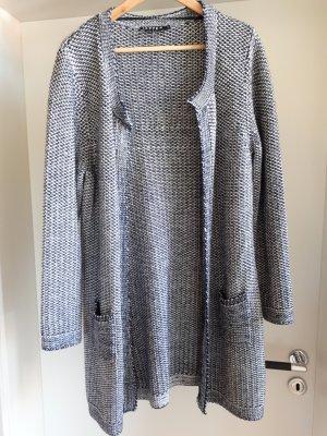 Jette Gebreide jas wit-donkerblauw