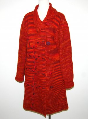 Strickmantel - Long Cardigan von Deerberg - Gr. M