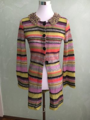 Marc Cain Knitted Coat multicolored mohair