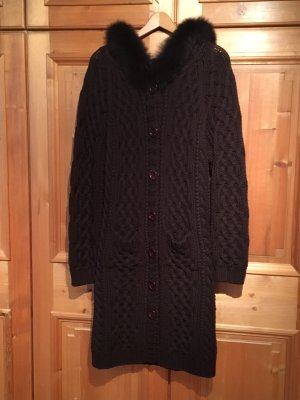 pumpkin Knitted Coat dark brown