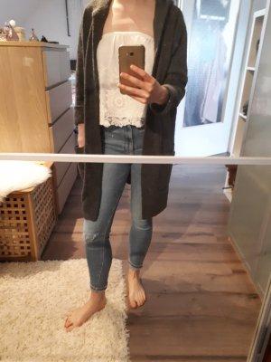 Tom Tailor Denim Abrigo de punto gris oscuro